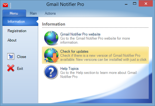 Gmail Notifier Pro updates